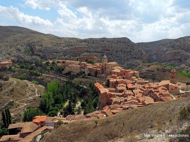Vista de Albarracín desde las murallas, Aragón, Teruel