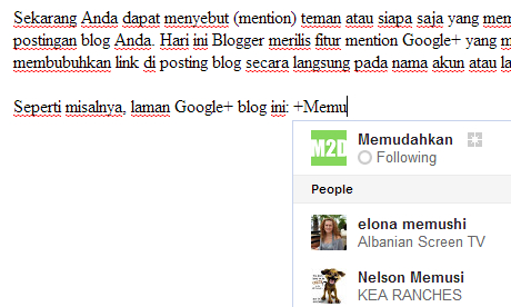 Mention Google+