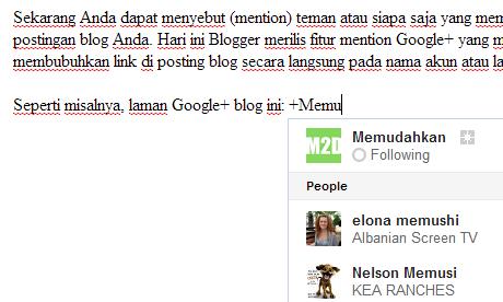 Mention Google+