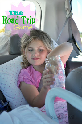 The Road Trip Jar-- 110 Fun Questions and Games to Keep Kids entertained on long road trips for the holidays!! My kids LOVE this and are so well behaved when we pull out the jar!!! #roadtrip #familytime #familygames {www.maybeiwill.com}