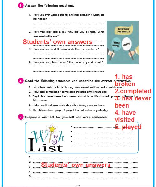 11. Sınıf Cem Veb Ofset Yayınları İngilizce Sunshine Ders Kitabı 141. Sayfa Cevapları Theme 4 Attention