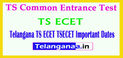 TSECET 2019 Important Dates