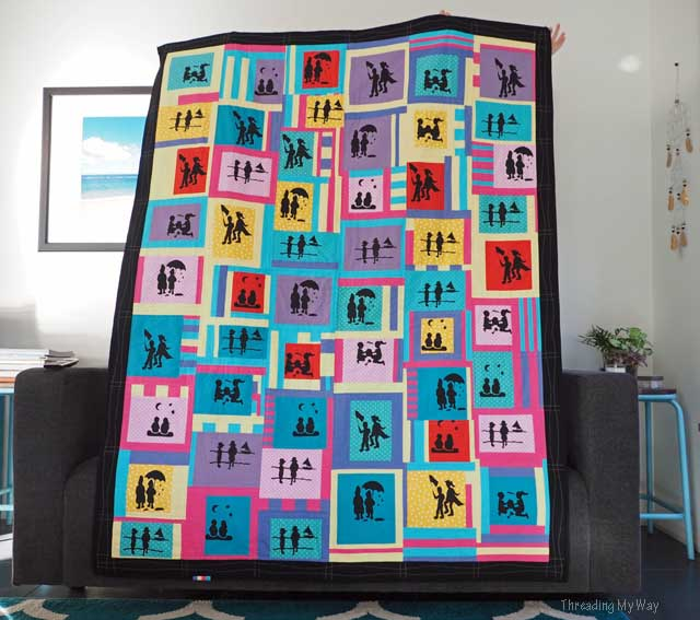 Silk Screen Printed Silhouette Quilt ~ Threading My Way