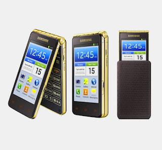 Spesifikasi Samsung Galaxy Golden 2  Pabrikan Samsung secara terus menerus selalu memproduksi smartphone untuk memenuhi kebutuhan konsumennya, saat ini juga berhasil memproduksi ponsel pintar terbaru yang canggih dan telah di pasarkan. Kalau produk smartphone sebelumnya dari Samsung biasanya merancang ponsel pintar dengan  desain full touchscreen yakni seperti pada smartphone Samsung Galaxy Alpha, namun pada smartphone  terbaru dengan nama Samsung Galaxy Golden 2 ini didesain dengan tampilan yang menarik dan terlihat  berbeda dengan smartphone Samsung terdahulunya.  Tampilan yang berbeda dari Samsung Galaxy Golden 2 jika dibandingkan dengan Smartphone Samsung terdahulunya adalah desain flip yakni Samsung terbaru ini bisa dilipat. Selain desain dengan tampilan  yang unik, Ponsel pintar produksi Samsung ini dirancang dengan penggunaan spesifikasi yang lumayan mumpuni. Untuk lebih jelasnya spesifikasi apa saja yang terpasang pada smartphone Galaxy Golden 2 bisa dilihat pada ulasan berikut ini.  Desain komponen Layar termasuk dalam kategori besar karena pada smartphone Samsung Galaxy Golden 2 terpasang adanya 2 layar yang serupa yakni memiliki ukuran sebesar 4,6 inchi dan telah dikombinasikan dengan keberadaan teknologi layar Super AMOLED. Selain itu layar ini mempunyai tingkat resolusi yang lumayan baik dengan WXG 1280 x 768 pixel. Ketika membahas Kelebihan dan