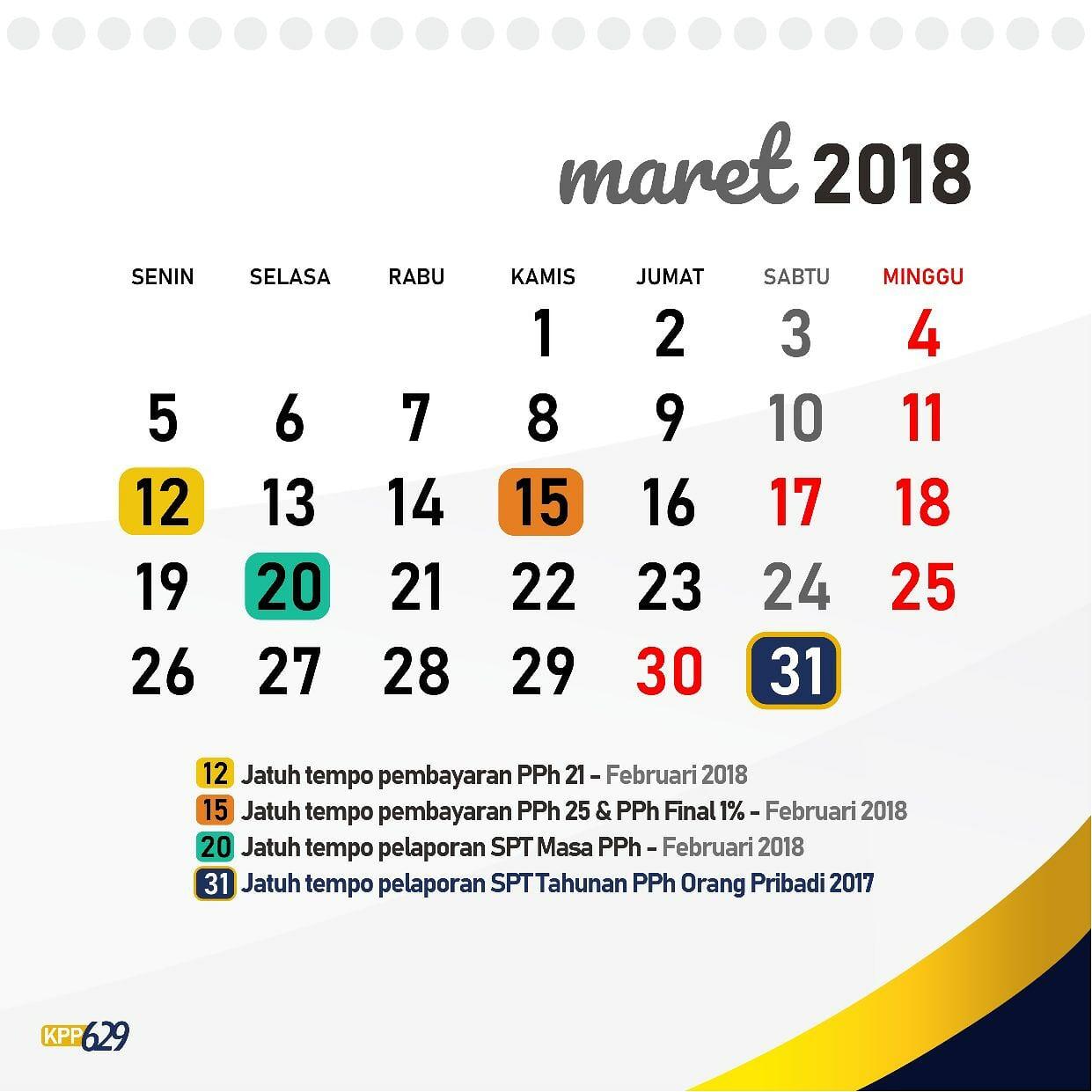 Hari Kerja dan Jam Kerja Kantor Pajak Pratama 2018
