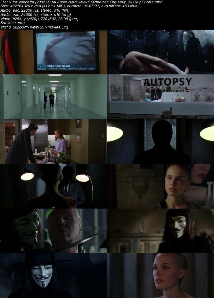 V for Vendetta (2005) Dual Audio Hindi 480p BluRay