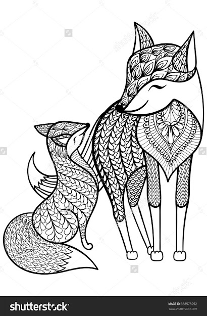 Fox Coloring Pages Red Fox Coloring Pages Eassume For Kids