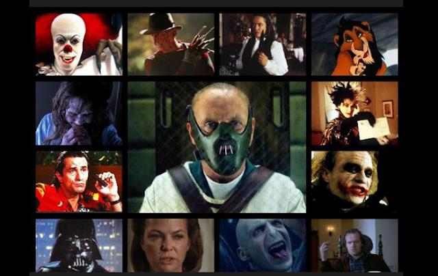 montaje de fotos con algunos de los mejores villanos del cine