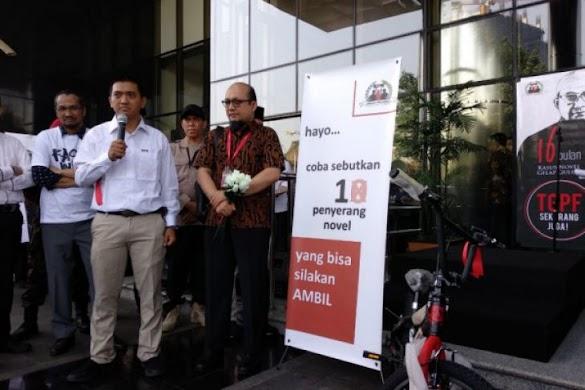 KPK hadiahi sepeda bagi pengungkap penyerangan Novel Baswedan