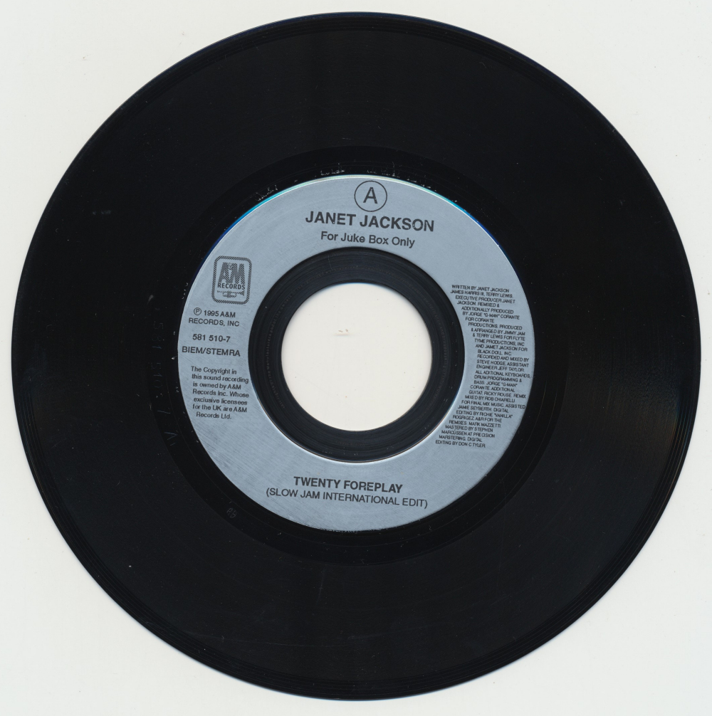 Music on vinyl: Twenty foreplay - Janet Jackson