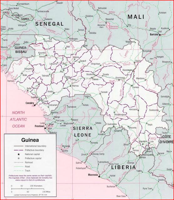 image: Guinea Political map