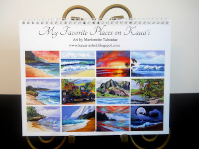 landscapes of Kauai Hawaii calendar Hawaiian Art