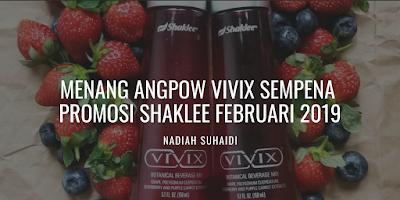 Menang Angpow Vivix Sempena Promosi Shaklee