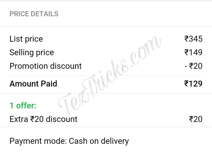 Flipkart free delivery trick, how to get free delivery on Flipkart products amounting less than Rs.500 Amount,