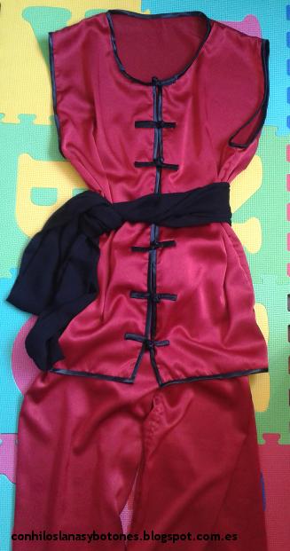 conhiloslanasybotones - traje de wushu