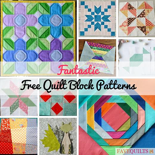 32 Fantastic Free Quilt Block Patterns