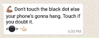 black dot of death on whatsapp