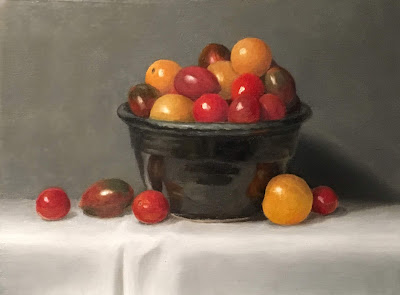 alla prima, tomatoes, oil painting