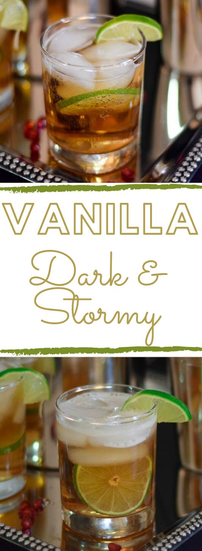 VANILLA DARK AND STORMY #vanilla #healthydrink