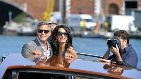 George Clooney and bride arrive in Venice along with celebrity guests