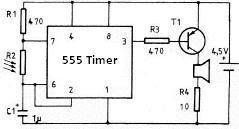 Generator 555 Timer Circuit Diagram