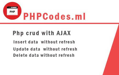 insert delete update data using ajax in php