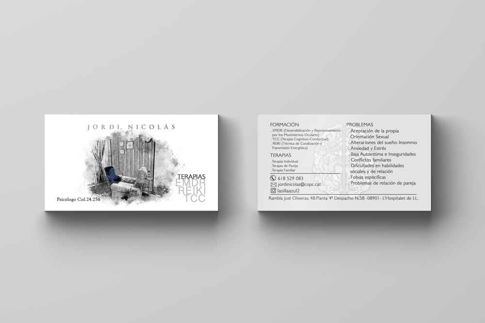Psychologist Business Card Design Judiths Design Creativity
