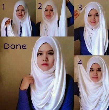Cara Memakai hijab Pashmina untuk Wajah Bulat