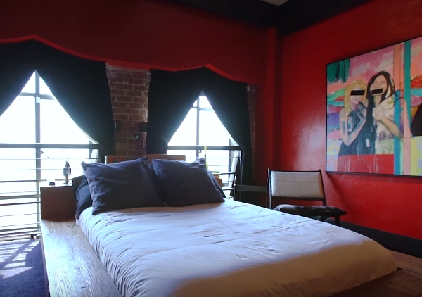 Johnny Depp Amber Heard house bedroom