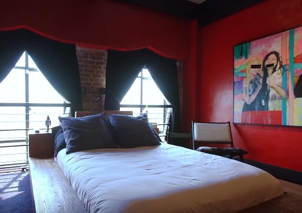 Johnny Depp Amber Heard house bedroom