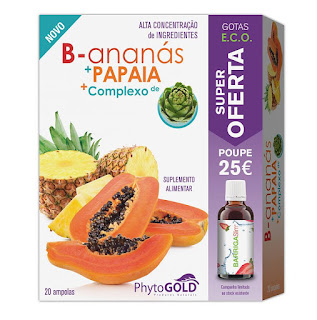 B-ananás + Papaia + OFERTA BarrigaSlim phytogold