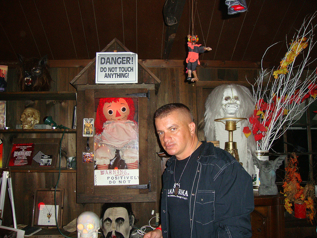 Annabelle the Haunted Doll at the Warrens Museum of Occult: Image Courtesy by 826 PARANORMAL