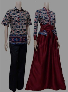 Model baju batik couple berkelas
