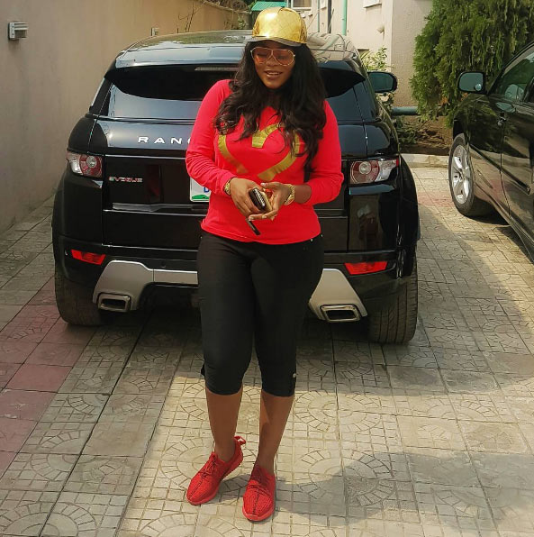 Recently engaged actress Daniella Okeke looks chic, flaunts her new Range Rover Evogue