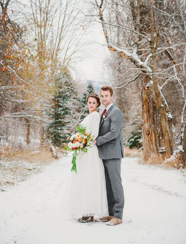 Zimowe Stylizacje ślubne 2 Propozycje Moje Wielkie Wesele