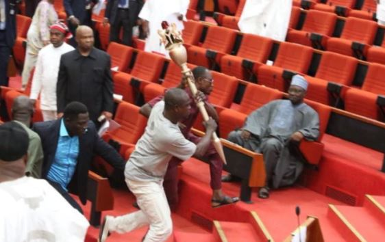 Thug who stole Senate mace yet to be arrested – Police
