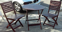 "Uhuru Furniture & Collectibles Sold 30"" Asian Teak Patio"