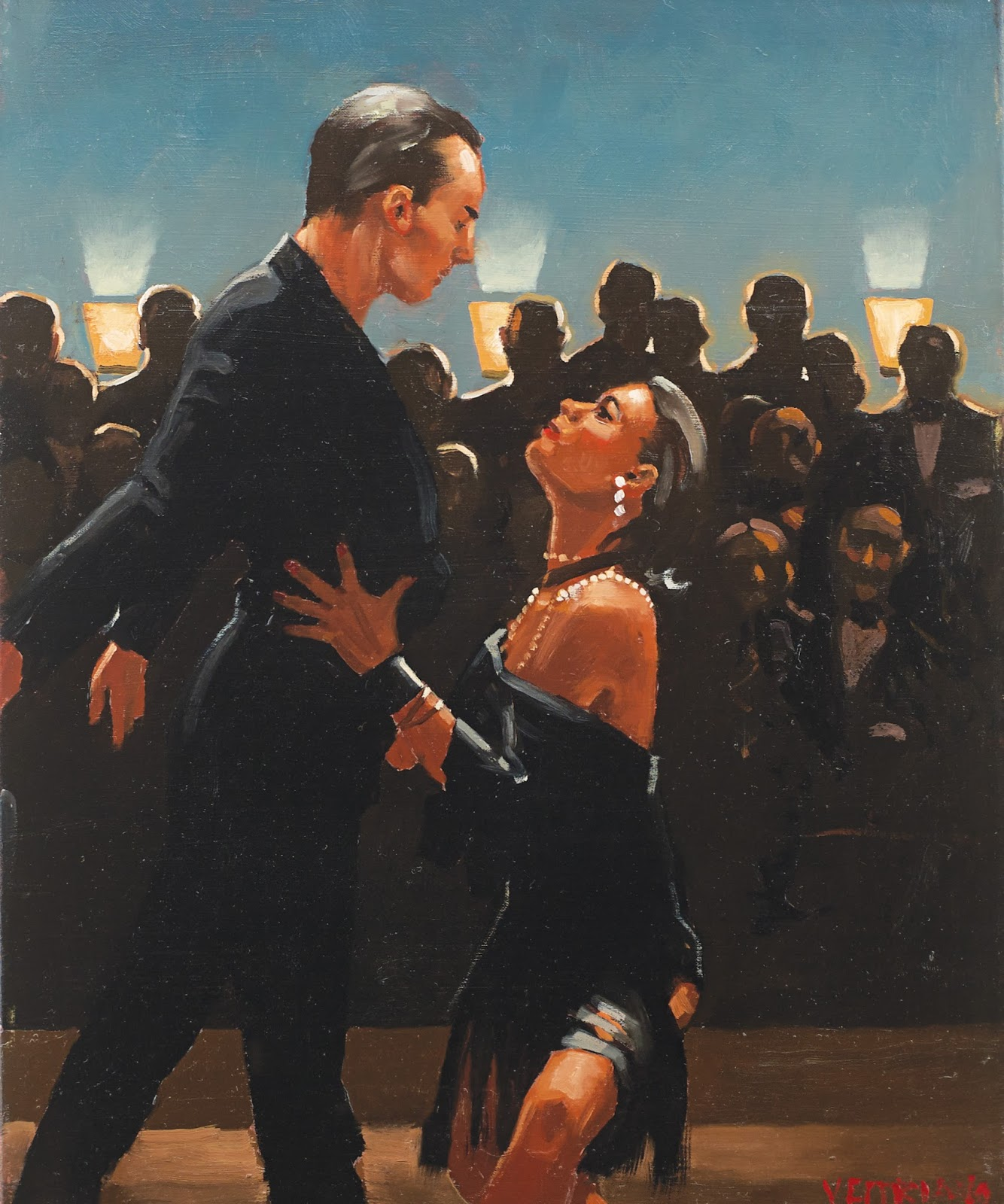 Jack  Vettriano  Study  for  Rumba  in   lack