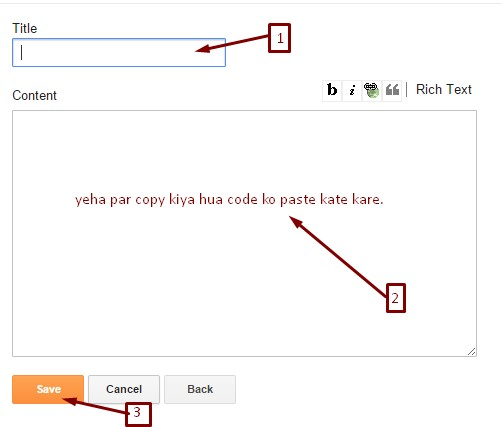 Alexa rank ka Html code paste karne.,