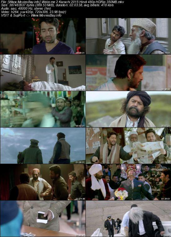 Welcome 2 Karachi 2015 Hindi 480p HDRip 350MB