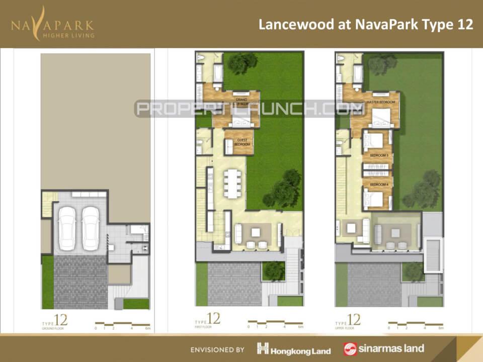 Denah Tipe 12 Cluster Lancewood Nava Park