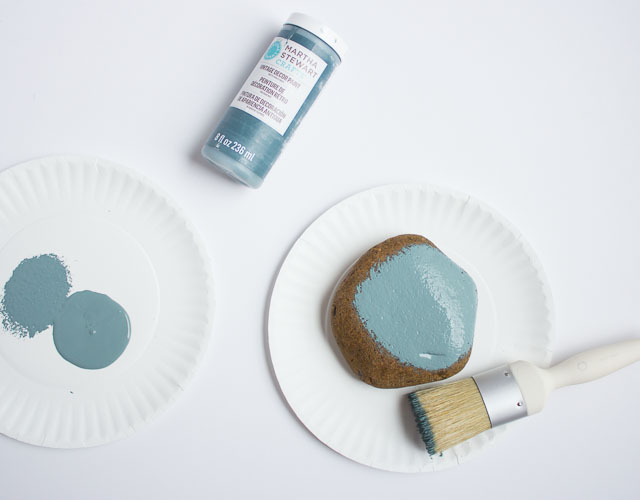 painted rocks with chalk paint