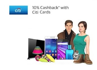 Flipkart Citibank Credit and Debit Cards Extra 10% cashback