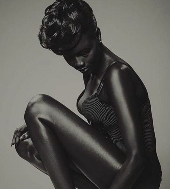 Model with sheer shade of blackness becomes an Internet sensation
