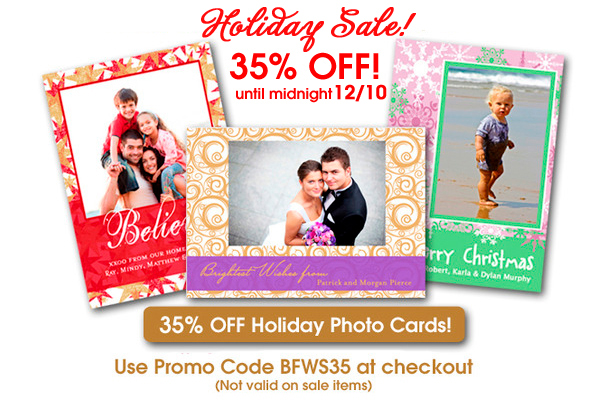 35% Off Unique Holiday Photo Cards