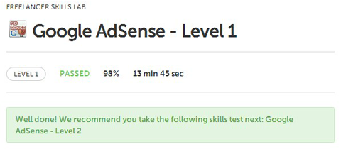 freelancer exams questions answers AdSense level 1 Fundamentals Basics Terminology Techniques Programming