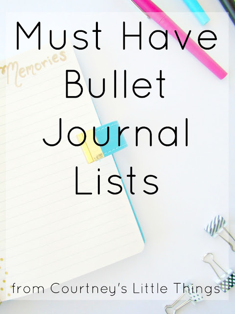 5 lists I have to have in my bullet journal