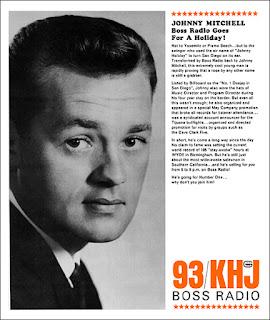 Johnny Mitchell 1965 KHJ Sales Sheet