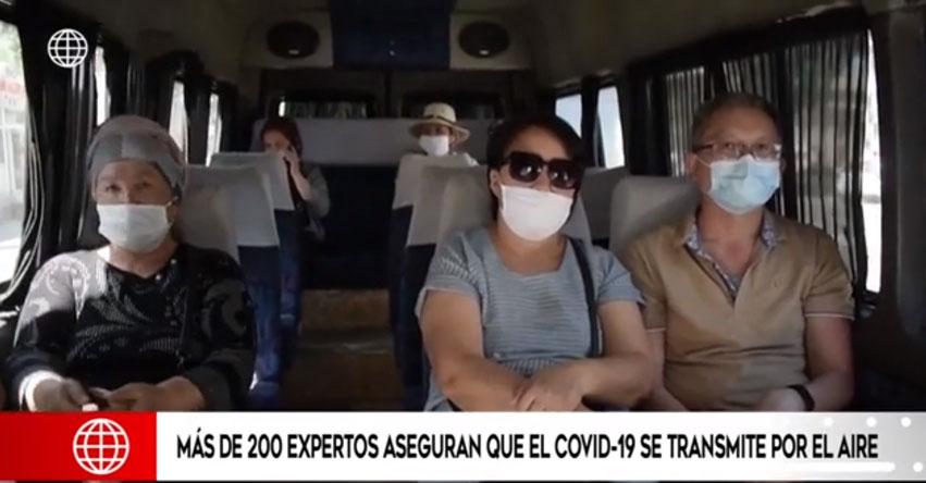 COVID-19 SE TRANSMITE POR EL AIRE: Científicos piden a la OMS que se tome más en serio la investigación sobre la transmisión aérea del virus