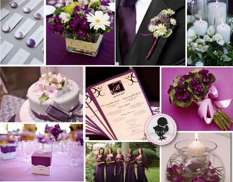 Kwiatów inspiracje różowo fioletowy ślub